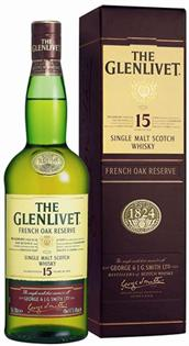 The Glenlivet 15 Years Scotch French Oak...